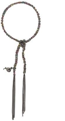 Carolina Bucci 18kt black gold Lucky Bracelet with Celebration Charm