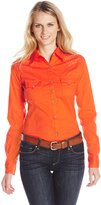 Wrangler Women's Ultimate Riding Long Performance Sleeve Woven Shirt