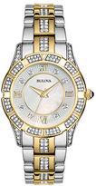 Bulova Ladies Crystallized Two-Tone Bracelet Watch