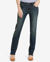 Lauren Ralph Lauren Petite Super-Stretch Straight-Leg Jeans