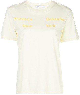 Proenza Schouler White Label printed detail T-shirt