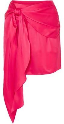 Mason by Michelle Mason Draped Silk-charmeuse Mini Skirt