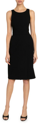 Givenchy Crepe Fitted Cross-Back Dress