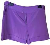 Blumarine Purple Silk Shorts for Women