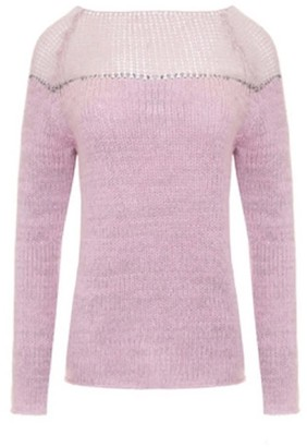 You By Tokarska Sweater With Silver Thread Pink
