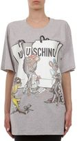 Moschino Capsule Oversize Cotton-Jersey Graphic Tee