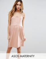 Asos Cami Smock Dress With Button Front