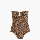 J.Crew Drake's® for U-front bandeau one-piece swimsuit in giraffe print