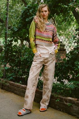 BDG High-Waisted Baggy Jean Brown Tie-Dye