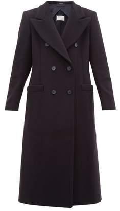 Maison Margiela Double Breasted Wool Blend Coat - Womens - Navy