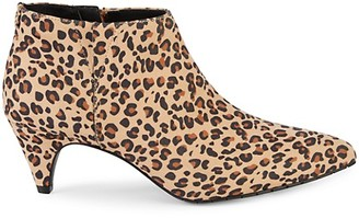 Kenneth Cole Reaction Animal-Print Faux Suede Booties