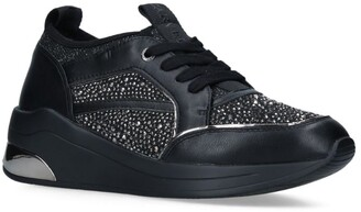 Carvela Fabric Jetson Jewel Sneakers