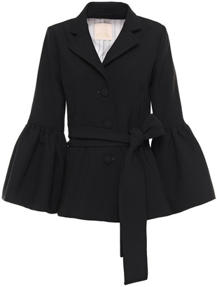 By Ti Mo Belted Fluted Cady Jacket