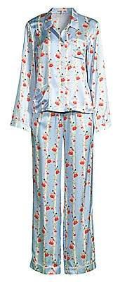 Morgan Lane Women's Ruthie Chantal 2-Piece Floral Stripe Pajama Set