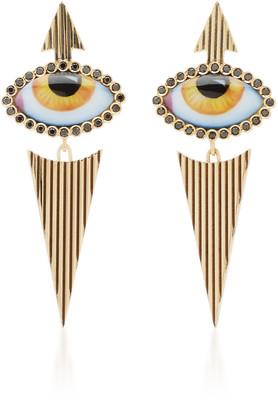 Lito 14K Yellow-Gold and Diamond Eye Earrings