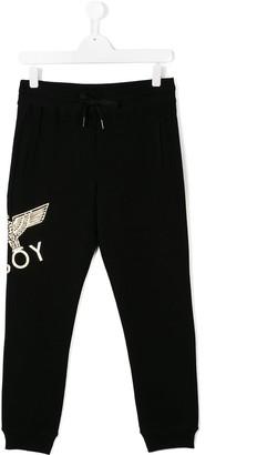 Boy London Kids printed logo sweatpants