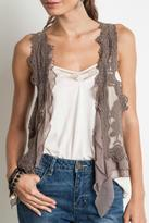 Umgee USA Sleeveless Lace Vest