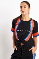 P.E Nation Black Bench Sprint Tee - M - Black/Red/Blue