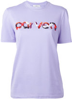 Carven sequins logo T-shirt - women - Cotton - XS