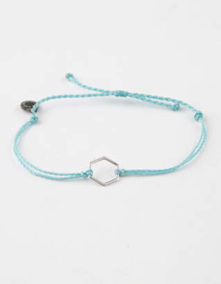 Pura Vida Hexagon Light Blue Bracelet