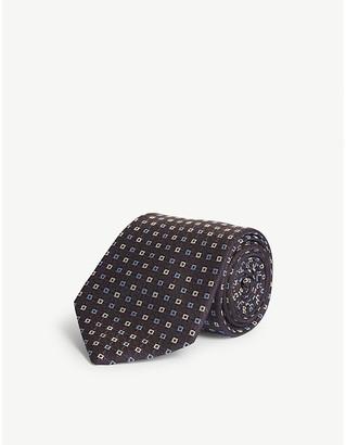 Eton Square pattern silk tie