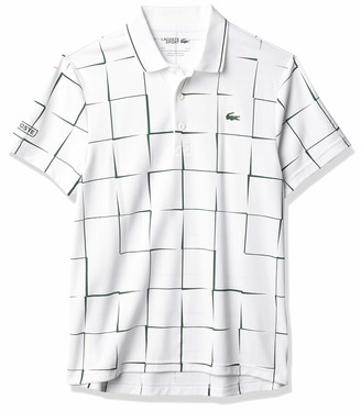 Lacoste Men's Sport Short Sleeve Ultra Dry All Over Print Polo Shirt