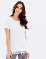Dorothy Perkins Spot Circle Trim Tee