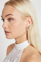 BCBGeneration Pave Safety Pin Stud Earring
