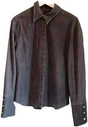 Trussardi Jeans Grey Cotton Top for Women