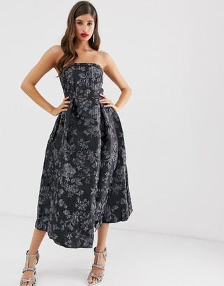 Closet London Closet strapless dress-Grey