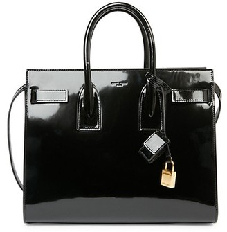 Saint Laurent Mini Sac De Jour Patent Leather Satchel