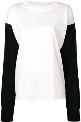 MM6 MAISON MARGIELA Contrasting Sleeves Sweater