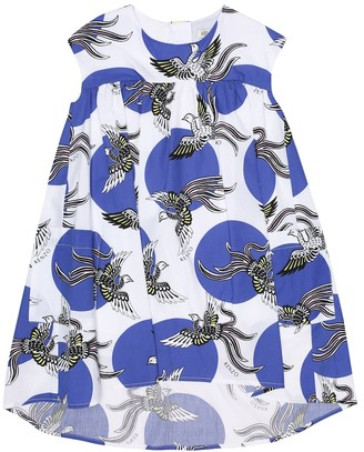 Kenzo Printed cotton-poplin dress