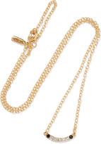 Elizabeth and James Klint gold-tone crystal necklace