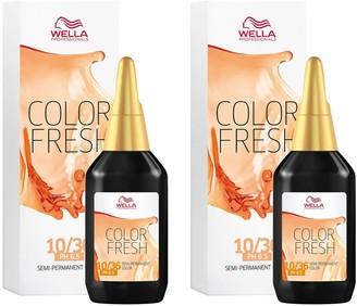 Wella Professionals Color Fresh Semi-Permanent Colour Lightest Blonde Gold Violet 75ml Duo Pack