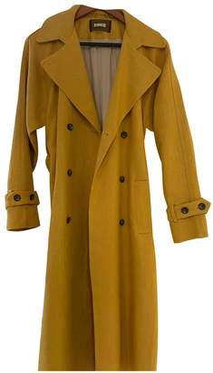 Reformation Yellow Linen Trench coats