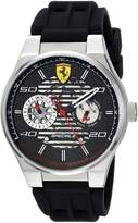 Ferrari Men's 'Speciale' Quartz Stainless Steel and Rubber Casual Watch, Color: (Model: 830429)