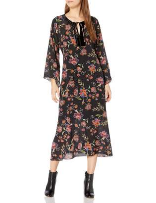 For Love and Liberty Love & Liberty Women's Silk Printed Maxi Dress
