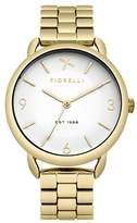 Fiorelli Women's Quartz Watch with White Dial Analogue Display and Gold Alloy Bracelet FO023GM