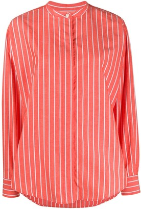 Isabel Marant Striped Band-Collar Shirt