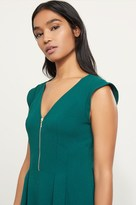 Dynamite Zip Front Fit and Flare Dress