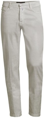 Kiton Five-Pocket Linen-Blend Pants