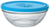 Duralex Lys Stackable Clear Bowl with Lid (2.5 QT)