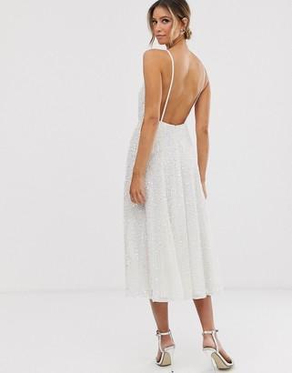 ASOS EDITION Eva embellished cami midi wedding dress