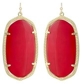 Kendra Scott Danielle Drop Earrings Bright Red