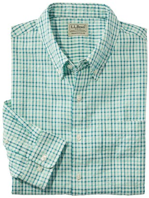 L.L. Bean Men's Organic Cotton Seersucker Shirt, Long-Sleeve, Traditional Fit, Plaid