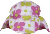 Flap Happy Original Flap Hat - Aquatic Wallflower-L