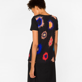 Paul Smith Women's Black T-Shirt With 'Supernova' Print Silk Back