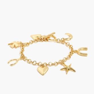 J.Crew Good luck charm bracelet