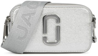 Marc Jacobs Snapshot DTM silver leather cross-body bag